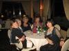 La cena del burraco; a destra la Presidente Domenica Giuliani