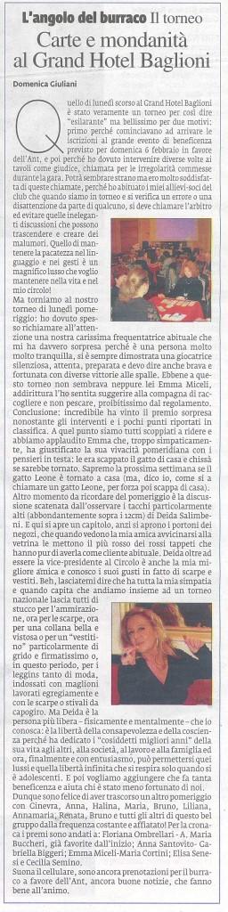 Il Nuovo Corriere di Firenze - Giov.27 gennaio 2011