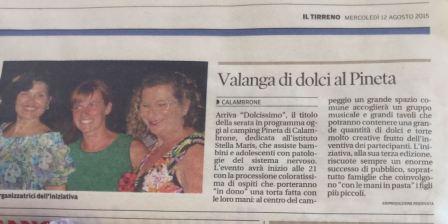 IL TIRRENO DI PISA mercoledì 12 agosto 2015
