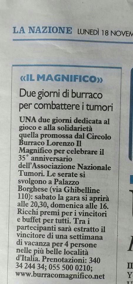 La Nazione 18 novembre LUNEDI Firenze